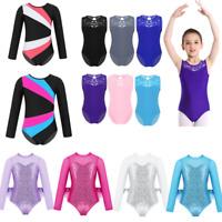 Kids Girls Gymnastics Ballet Dance Leotards Tutu Dress Ballerina Sports Costumes