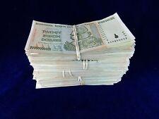 Zimbabwe 20 Billion Dollar Note CIRCULATED 5 Bundles=500 Notes AA/AB 2008