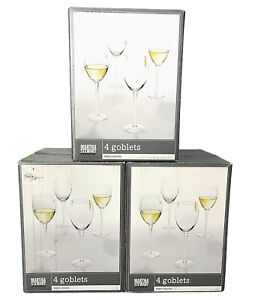 Martha Stewart Everyday Percussion Goblet Wine Glasses Lot of 12- With Boxes