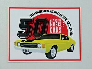 UAW Local 160 50 Years of Muscle Cars Dash Plaque GM Tech Center Car Show 7899