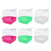 6x Bird Bathtub Box Clear Cage For Little Birds Canary Budgies Finches Macaws