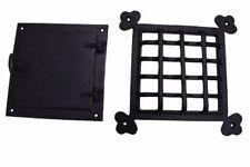 speakeasy door grill with viewing door black powder coat finish large size