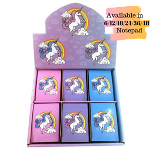 Unicorn Rainbow Note Books Pads Party Bag Fillers (Assorted) X 6/12/18/24/36/48