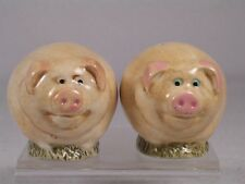 Harmony Kingdom / Ball Pot Bellys / Belly 'Pigs' Salt & Pepper Shaker #SPPI2 NIB