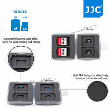 JJC Gray Memory Card Case Storage for Nintendo Switch Game Card*4+MicroSD Card*4