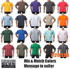 LOT 3 PACK PRO CLUB T SHIRTS PROCLUB MEN'S HEAVYWEIGHT PLAIN SHORT SLEEVES S-7XL