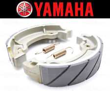 Set of (2) Yamaha Water Grooved FRONT Brake Shoes and Springs #3KG-W253E-00-00