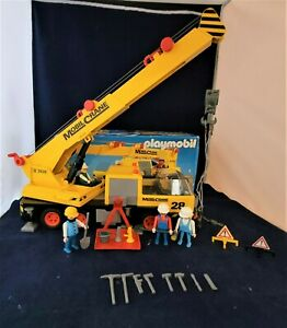 VINTAGE PLAYMOBIL MOBIL CRANE 3761 WITH BOX AND LEAFLET