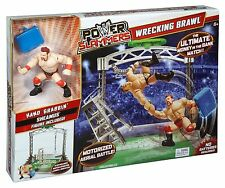 WWE Power Slammers Wrecking Brawl Wrestling Ring Playset Sheamus Cena Rumble