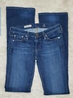 AG Adriano Goldschmied Women's The Angel Boot Cut Jeans Size 25 Dark Denim