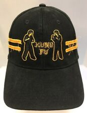 Paul Frank Kung Fu Baseball Cap Hat Fitted Black Yellow Cotton Men L / XL