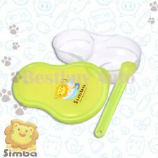 Bpa Free Green Food Grinder Storage Case Feeding Spoon Set For Baby Toddler