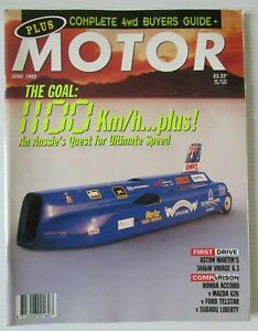 Modern Motor June 1992 -1100 Km/h+ AUSSIE's QUEST ULTIMATE SPEED
