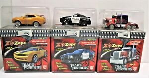 Zip Zaps Transformer's Complete set all 3  Optimus Prime-Bumble Bee & Barricade