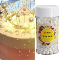 2/4 /10/14mm Edible Sugar Balls Pearls Cake Sprinkles Pearls Big Cake Y2E2