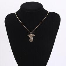 Vintage Rose Gold Dog Pendants Necklace For Men and Women