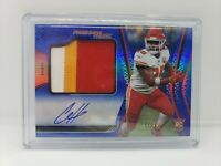2020 Certified 🔥 Clyde Edwards-Helaire RC Patch Auto Blue /99 Chiefs Rookie RPA