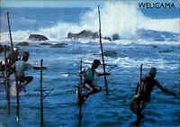 SRI LANKA (Ceylon) Postkarte Postcard Native Traditional Fishing, Weligama, AK