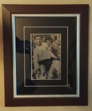 GEORGE BEST NORTHERN IRELAND vs ENGLAND MILNE SIGNED PICTURE MOUNTED FRAMED