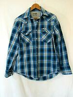 Wrangler Advanced Comfort Cotton Plaid Pearl Snap Western Shirt Men's L unworn