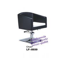 Sedia poltrona parrucchiere poltrone parrucchieri 8939 nero/bianco professionale
