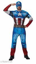 Mens Marvel Captain America Costume Adult Cosplay Superhero Fancy Dress XL