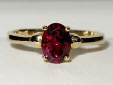 Beautiful Gems TV 9ct Yellow Gold 0.875ct Rhodolite Garnet Solitaire Ring