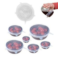 Set of 6 Lids Extensible Silicone of different sizes Microwave Fridge