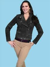 SCULLY Womens BLACK BOAR SUEDE LEATHER JACKET - New - L - Limited Edition