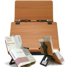 Book Stand Portable Wood Reading Desk Cookbook Adjustable Holder Jasmine Plus