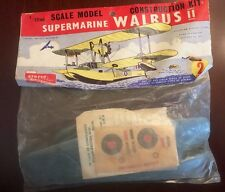 VINTAGE 1958 1st AIRFIX 1/72sc SUPERMARINE WALRUS II Model Kit #1404 (Rare)