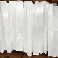 "Lb Lot XL Natural Selenite Logs "" Rough Crystal Wands Bars 14"" Sticks BULK Whole"