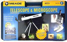 Meade 100X Telescope & 900X Microscope Exploration Combo Kit Educational Science