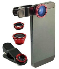 Universal 3in1 Camera Lens - Wide Angle Fish Eye & Macro - iPhone 4 5s 5c 6 6s
