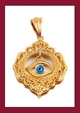 18K Gold filled Evil Eye Pendant Cubic Zircon FREE Necklace - FREE Shipping