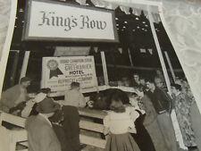 "vintage photo  Grand Champion Steer King's Row  W Va. black & white 10""  x 8 """