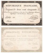 French Assignats 250 Livres Banknote (1793) Pick ref: A75 - EF.