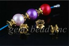 Free Shipping 100Pcs Charms Bracelet rondelle beads Finding Spacer Bead Caps 7mm