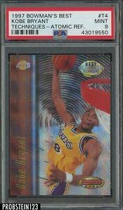 1997 Bowman's Best Techniques Atomic Refractor Kobe Bryant Lakers HOF PSA 9