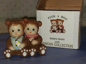 "Duncan Collection Peek A Boo Teddy Tessy 3"" Babies Bear Costume Figurine MIB"