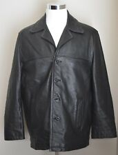 MEN'S WILSON'S LEATHER M JULIAN INSULATED LINED BLACK LEATHER COAT SIZE LARGE