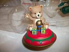 """New 1989 Noma Collectable Spinning Ornament - """"Bear On Top"""" Motor Included Nib"""