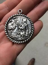 MEDAILLE NAPOLEON  1er a cheval, EMPIRE AIGLE IMPERIAL argent METAL ARGENTE