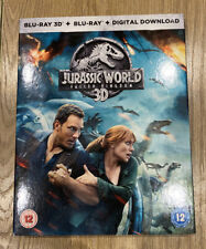 Jurassic World: Fallen Kingdom (3D & 2D Blu-ray, 2018) with Slipcover Ex Cond