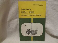 Vintage John Deere Operator's Manual 10A and 20A 3-Point Hitch Sprayers