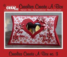 Crealies Create a Box No. 3 Pillow Box Present Gift Box Cutting Dies 15.5 x 10cm
