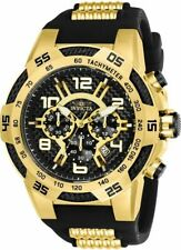 Invicta 24233 Men's 51mm Speedway Chronograph Black Dial Silicone Watch