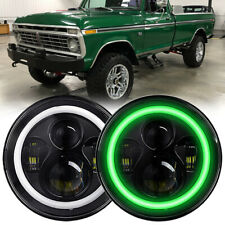 Pair 7 Green Halo Led Headlights For Ford F 100 F 250 F 350 Pickup 1953 1977 Fits More Than One Vehicle