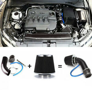 """2.99""""Auto Cold Air Intake Filter Induction Pipe Power Flow Hose System Universal"""