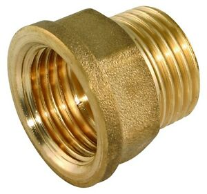 """Tap Thread Extension Brass BSP Extend Tap Screw 1/2"""" or 3/4"""" Male x Female ext"""